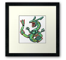 Pokemon - Rayquaza Framed Print