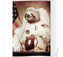 Sloth Astronaut (Slothstronaut) Poster