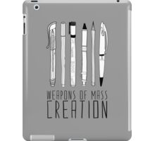 Weapons Of Mass Creation (on grey) iPad Case/Skin