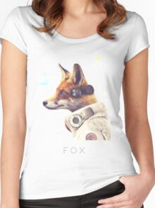 Star Team - Fox Women's Fitted Scoop T-Shirt