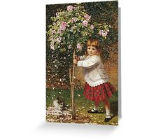 Vintage famous art - James Hayllar - The Rose Tree Greeting Card