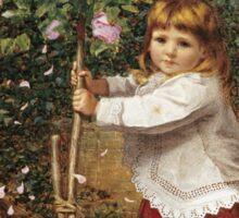 Vintage famous art - James Hayllar - The Rose Tree Sticker