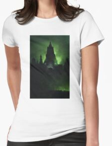 Wolf's castle... Womens Fitted T-Shirt