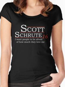 Scott Schrute for President Women's Fitted Scoop T-Shirt