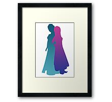 Snow Sisters Framed Print