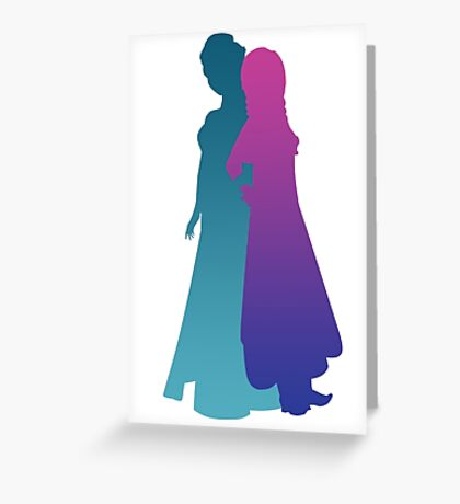 Snow Sisters Greeting Card