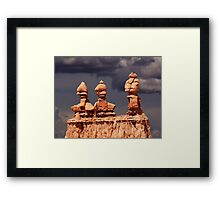 Three Sisters at sunset. Framed Print