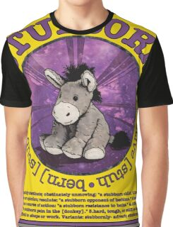 Stubborn Donkey Plush (yellow)  Graphic T-Shirt