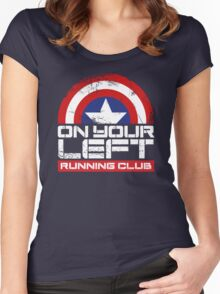 """On Your Left Running Club"" Version 02 Women's Fitted Scoop T-Shirt"