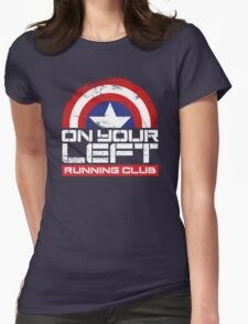 """""""On Your Left Running Club"""" Version 02 Womens Fitted T-Shirt"""