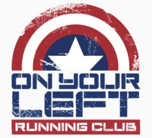 """On Your Left Running Club"" Version 01 One Piece - Short Sleeve"