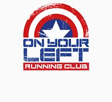 """On Your Left Running Club"" Version 01 Men's Baseball ¾ T-Shirt"