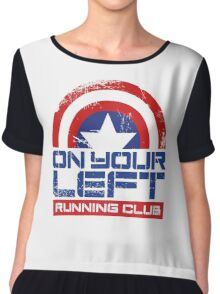 """On Your Left Running Club"" Version 01 Chiffon Top"