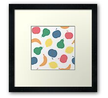 Pattern with fruit Framed Print