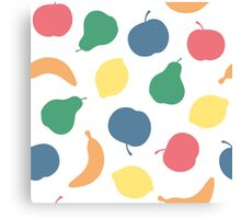 Pattern with fruit Canvas Print