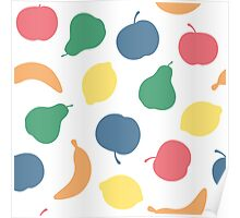Pattern with fruit Poster