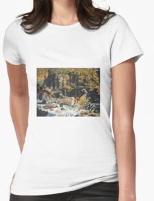 Vintage famous art - James Tissot - Holiday Womens Fitted T-Shirt