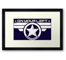 """On Your Left Running Club"" Distressed Print 2 Framed Print"