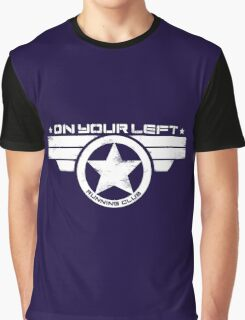 """On Your Left Running Club"" Distressed Print 2 Graphic T-Shirt"