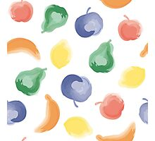 Pattern with fruit Photographic Print