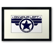 """On Your Left Running Club"" Hybrid Distressed Print 1 Framed Print"