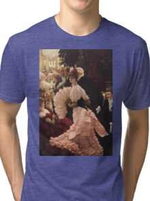 Vintage famous art - James Tissot - Political Woman Tri-blend T-Shirt