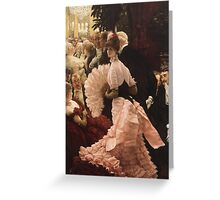 Vintage famous art - James Tissot - Political Woman Greeting Card