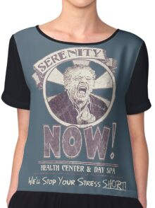 Serenity NOW Health Center & Day Spa (diSTRESSED) Chiffon Top