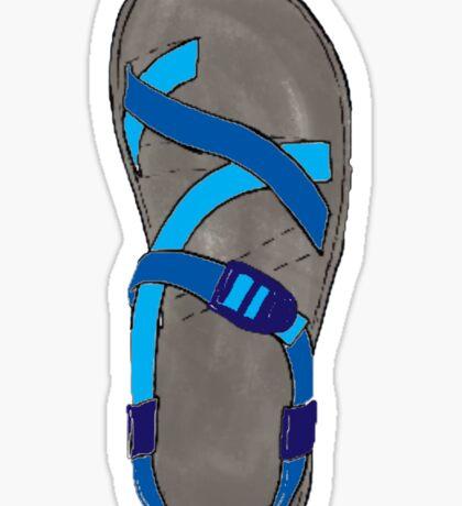 Blue Chaco Shoe Sticker