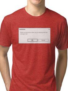 message man Tri-blend T-Shirt