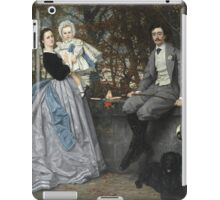 Vintage famous art - James Tissot - Portrait Of The Marquis And Marchioness Of Miramon And Their Children1865 iPad Case/Skin