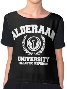 Alderaan University White Chiffon Top