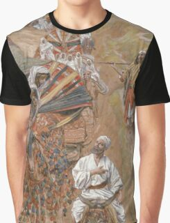 Vintage famous art - James Tissot - Rebecca Meets Isaac By The Way Graphic T-Shirt