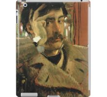 Vintage famous art - James Tissot - Self Portrait iPad Case/Skin