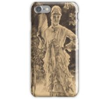 Vintage famous art - James Tissot - Spring (Printemps)1878 iPhone Case/Skin