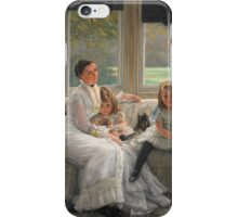 Vintage famous art - James Tissot - Smith Gill And Two Of Her Children iPhone Case/Skin