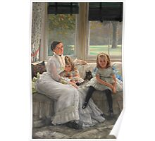 Vintage famous art - James Tissot - Smith Gill And Two Of Her Children Poster