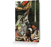 Vintage famous art - James Tissot - Still On Top Greeting Card