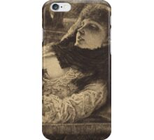 Vintage famous art - James Tissot - Summer Evening iPhone Case/Skin