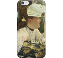 Vintage famous art - James Tissot - The Fan  iPhone Case/Skin