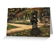 Vintage famous art - James Tissot - The Letter: vintage romantic gift, impressionism canvas paintings, retro wedding gift ideas Greeting Card