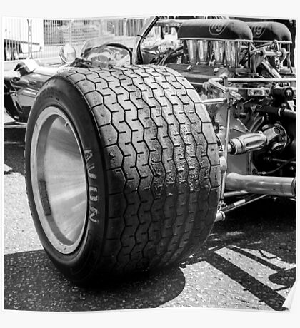 Vintage racing car tire Poster