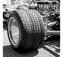 Vintage racing car tire Photographic Print