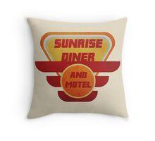 Retro Motel Sign Throw Pillow
