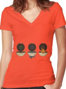 Pokemon Types Women's Fitted V-Neck T-Shirt