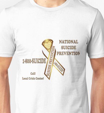 Prevent Suicide Ribbon Banner Unisex T-Shirt