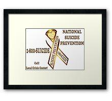Prevent Suicide Ribbon Banner Framed Print