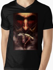 Attack on titan Mens V-Neck T-Shirt