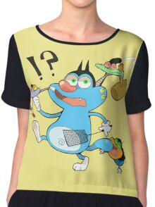 character oggy Chiffon Top