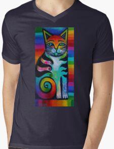 Rainbow kitty 2 Mens V-Neck T-Shirt
